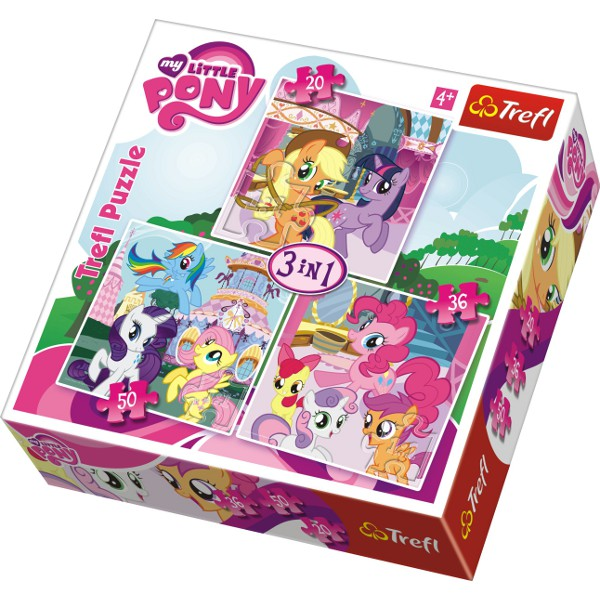 Puzzle 3w1 My Little Pony - Image 1